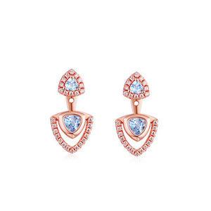 3mm/4mm Trillion Cut SilveTopaz Earrings for Women